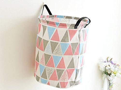 Pauwer Hamper Canvas with Waterproof Large Storage for Boys Girls Clothes, Toys