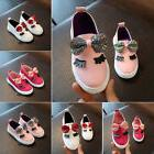 Fashion Kids Girls Sports Casual Faux Leather Sneakers Shoes