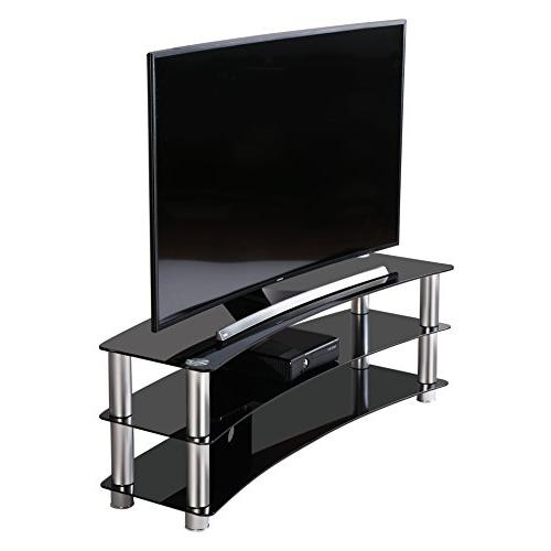 Fitueyes 3-tier Tv Stand with Tempered for Flat Screen