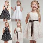 Flower Girl Princess Dress Kids Birthday Party Pageant Weddi