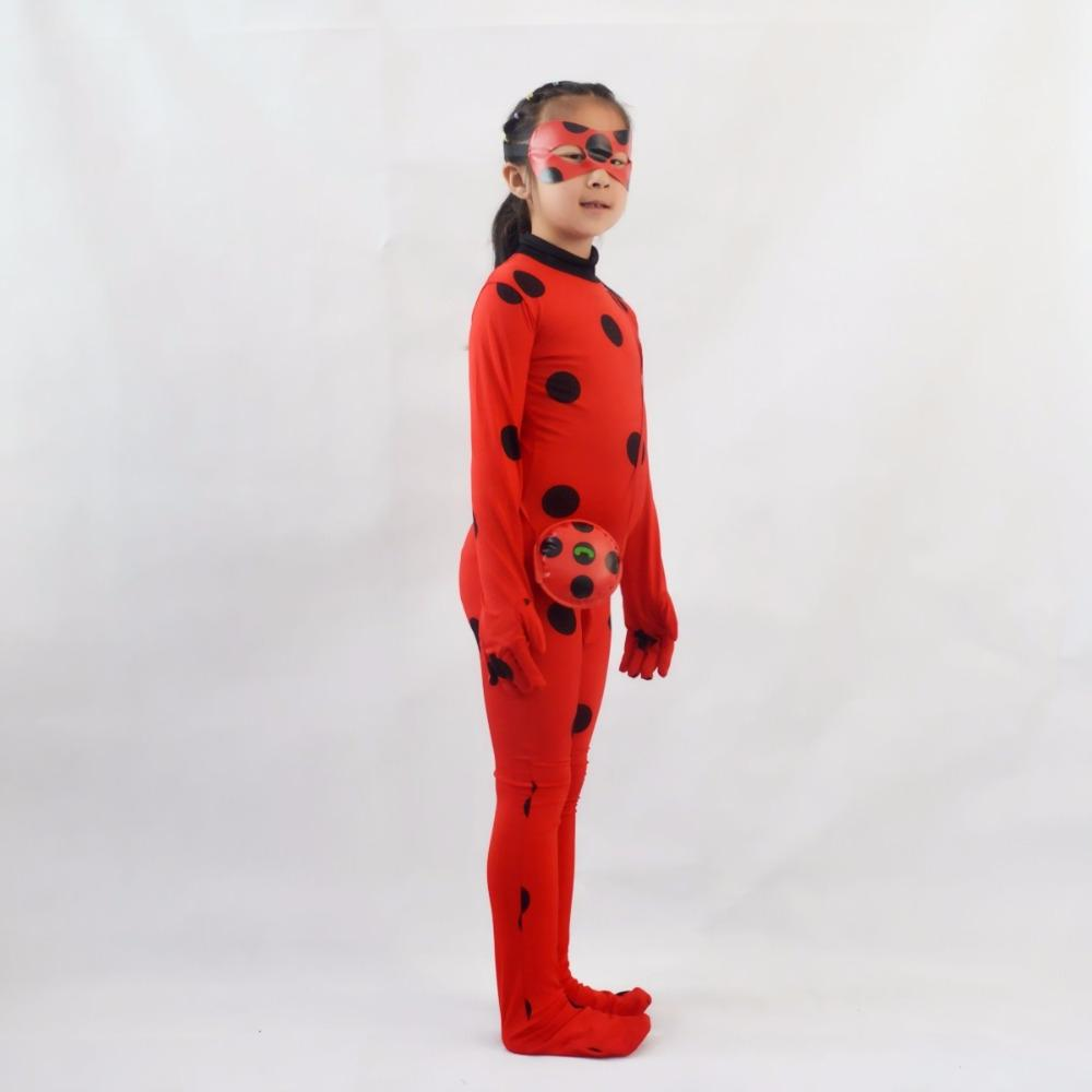 <font><b>Girls</b></font> LadyBug bug Cosplay <font><b>Kids</b></font> Little Beetle bug Jumpsuit