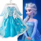 Frozen Kids Girls Dresses Elsa dress costume Princess Anna p