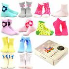 TeeHee Kids Girls Basic Crew Socks 12 Pair Pack  Solids