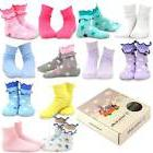 TeeHee Kids Girls Cotton Fashion Crew Socks 12 Pair Pack