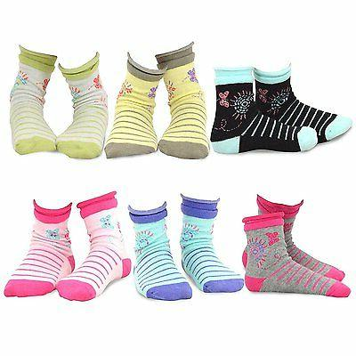 TeeHee Kids Girls  Fashion Crew Socks 6 Pair Pack