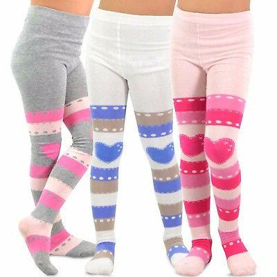 TeeHee Kids Girls Fashion Footless Tights 3 Pair Pack