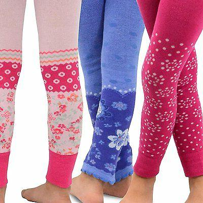 TeeHee Kids Girls Fashion  Leggings 3 Pair Pack