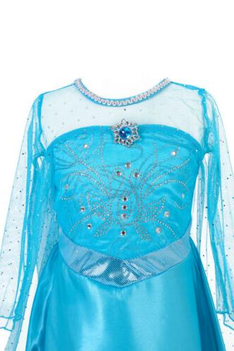 Kids Girls Elsa Princess Party