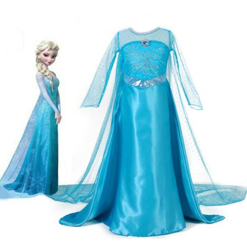 girls frozen elsa dress princess party dresses