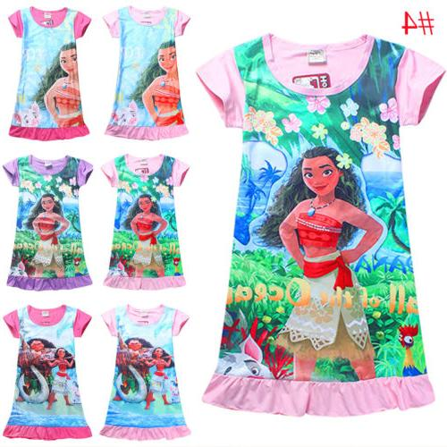 Girls Kids Cartoon Princess Dress Sleepwear