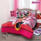 Girls Disney Minnie Mouse Love Comforter Set with Sheet Set