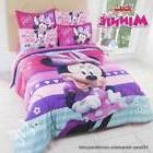 Girls Disney Minnie Mouse Multi-Color Comforter Set in Twin,