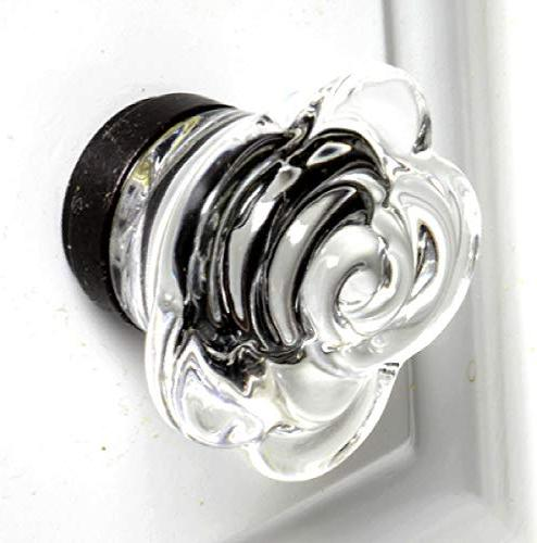 Glass Girls Dresser Cupboard Drawer Pack Clear Knob with Bronze &