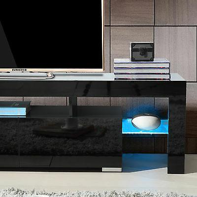 High Gloss Stand Cabinet Shelves 2 Furniture