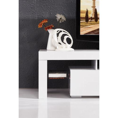 Modern White Stand LED Console Table