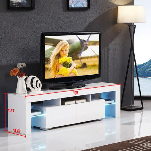 Modern 63'' Stand LED Light Console Table