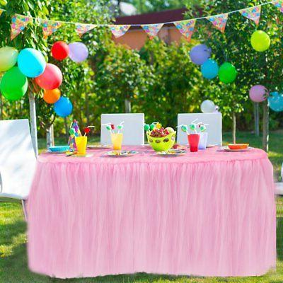 HBB Kids Handmade Tulle Table Skirt Cover for Party,