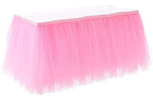 HBB Kids Tulle Table Skirt Parties & 3 , Pink