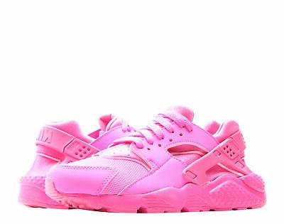 Nike Huarache Run  Laser Fuchsia Big Kids Girls Running Shoe