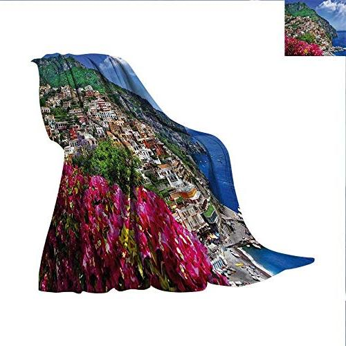 italy lightweight blanket scenic view