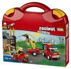 Lego Jr Fire Patrol Suitcase Building Toy 110 Pcs Truck Trai