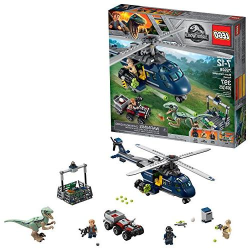 jurassic world blue helicopter pursuit