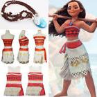 Kids Costume Disney Moana Princess Girl Cosplay Fancy Dress