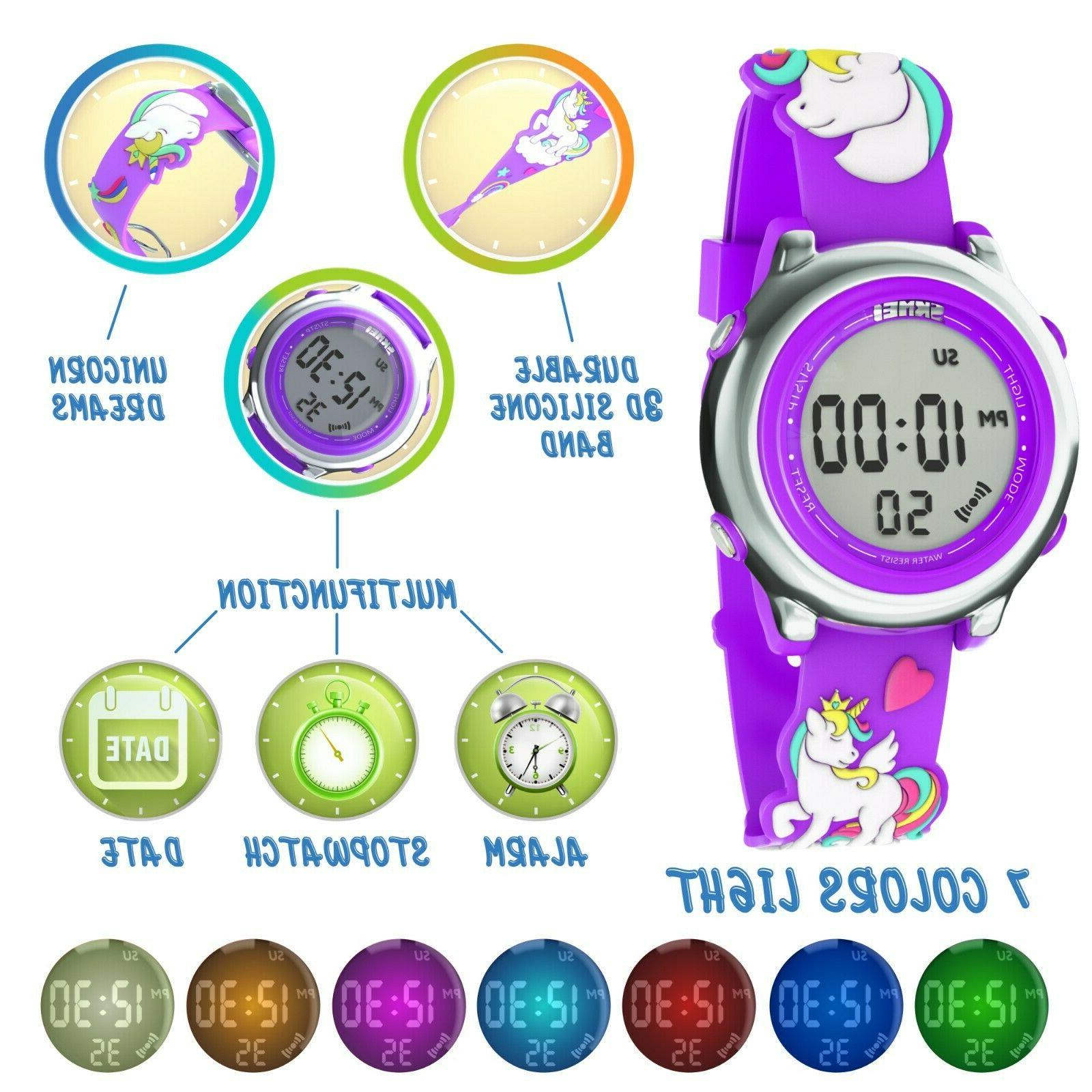 Kids Digital For Girl 3D Unicorn Silicone Gift