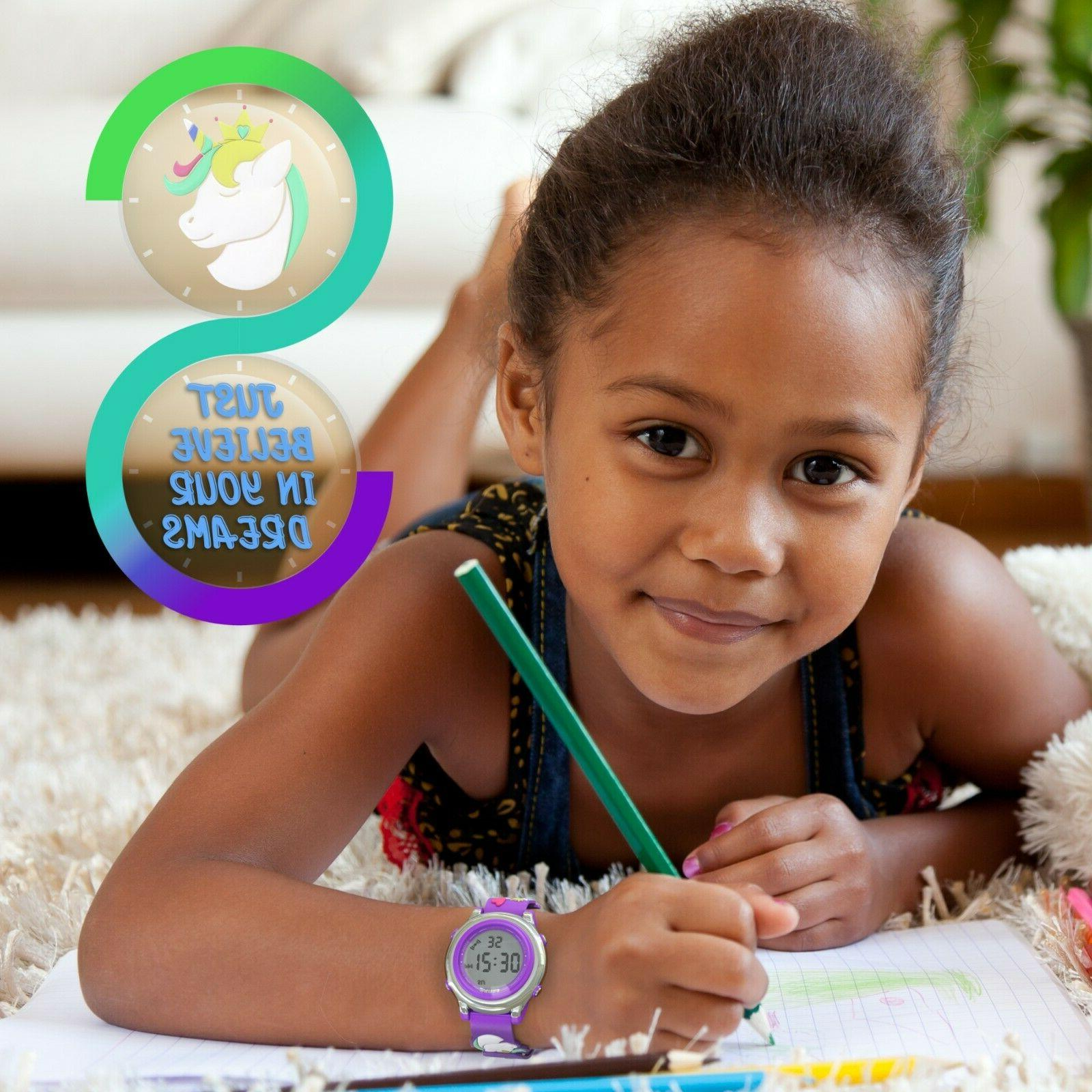 Kids Digital For Girl Silicone Strap Gift