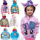 Kids Girl Boy My Little Pony Hoodie Coat Hooded  Zip up Swea