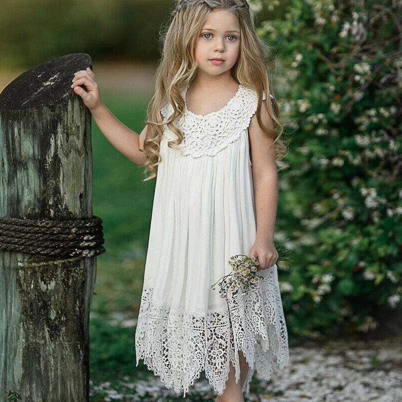 Kids Lace Wedding Party Prom Pageant