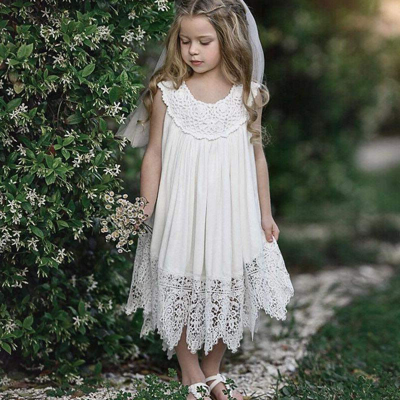 Kids Girls Baby Lace Wedding Pageant