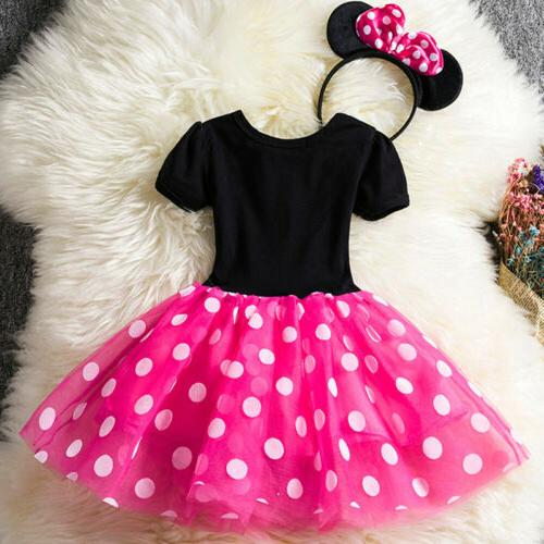 Kids Girls Minnie Party Tutu Headband