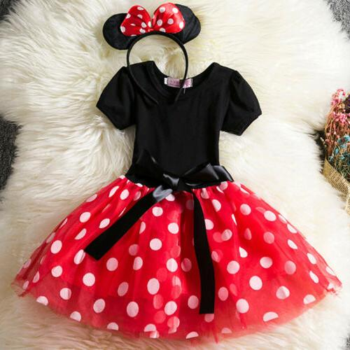 Kids Baby Toddler Minnie Costume Tutu Headband