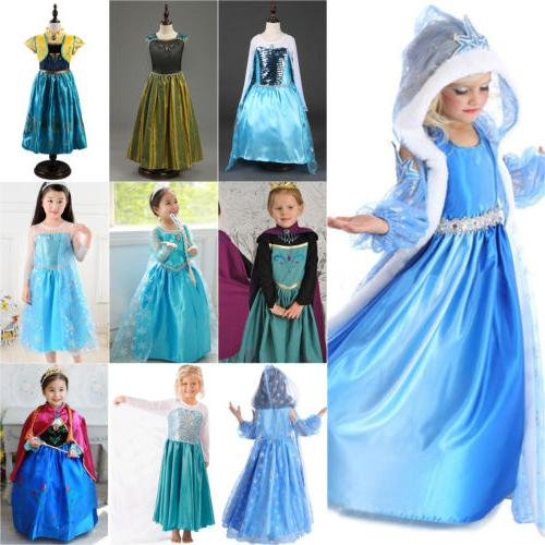 Kids Elsa Dress Anna Party