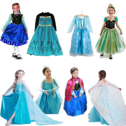 Kids Elsa Dress Costume Anna Party
