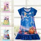 Kids Girls Nightwear Disney Princess Cartoon Dress Nightgown