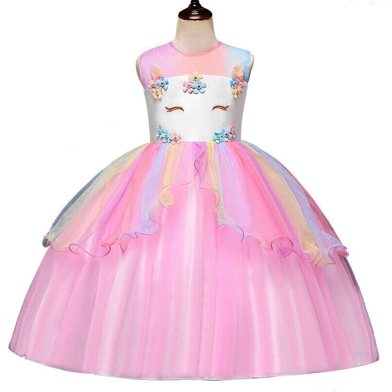 Kids Unicorn Dress Tutu Tulle