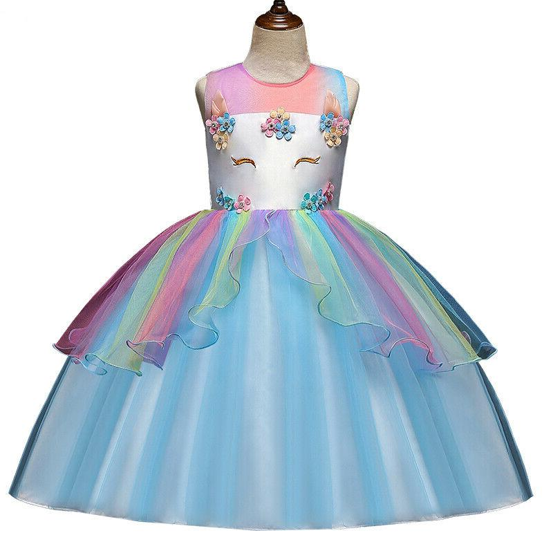 Kids Girls Clothes Unicorn Dress Tutu