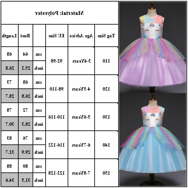 Kids Clothes Unicorn Prom Dress Tutu