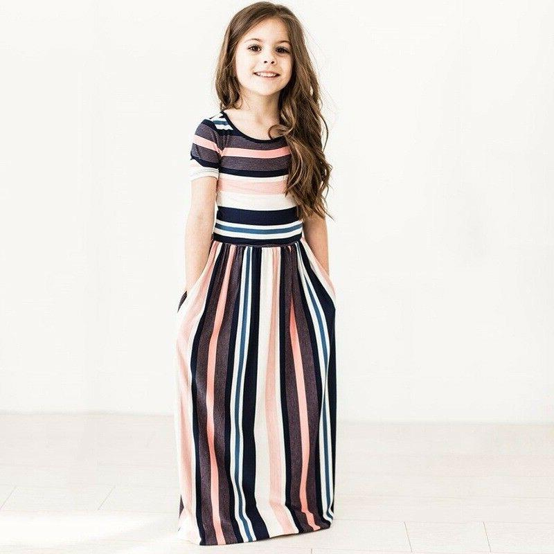 Kids Short Sleeve Striped Party US