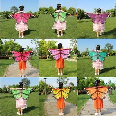 Kids Girls Soft Cloth Fabric Butterfly Wings Costume Wrist S