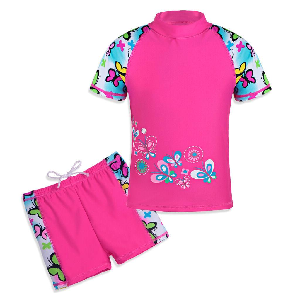 Kids Sun Swimsuit Surf Diving Swimming 3-12Y