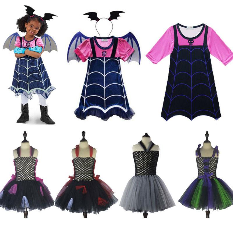 Kids Girls Vampirina Witch Dress Party Fancy Dresses Cosplay