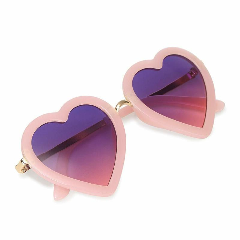 kids polarized heart shaped sunglasses for toddler