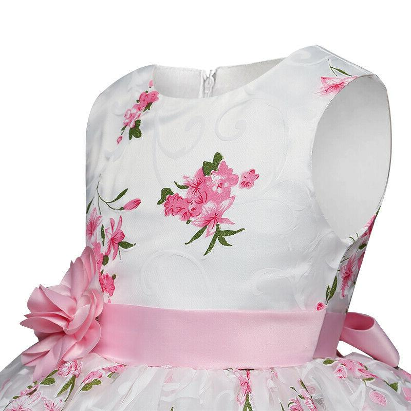 Kids Party Prom Gown Wedding Girl