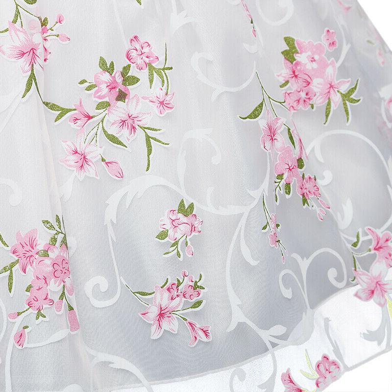 Kids Princess Baby Floral Party Gown Pageant Wedding Dress