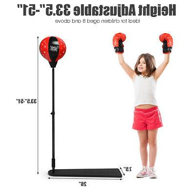Stand Boxing Gloves Set for Boys Girls
