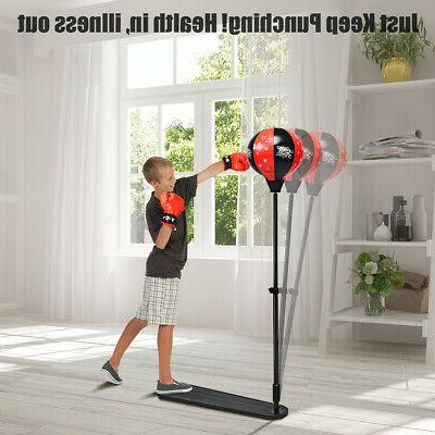 Kids Punching Stand Set for & Girls