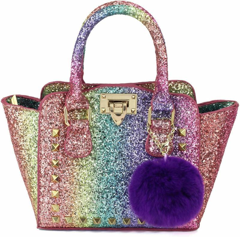kids purse for little girls toddlers rainbow